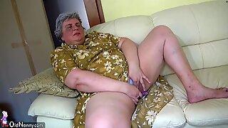 Oldnanny Cantik Gadis dan Gemuk Nenek Masturbasi