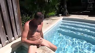 Big Hairy and Hung Daddy Victor Jacking Off