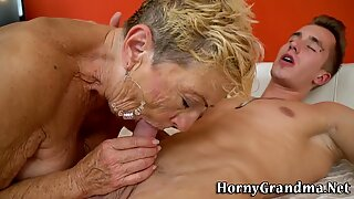 Fat grandma cum soaked