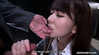 Slutty Japanese chick Yui Hatano blows hard hairy