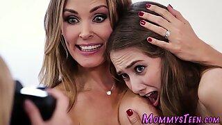 Big titted stepmom licked