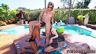 Chris strokes milf and teen babe gets railed Stepmom Turns Wet Dreams Into Reality