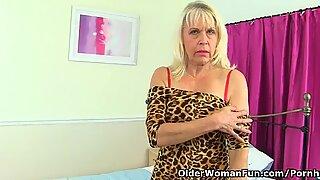 Anh quốc bà ngoại quyến rũ quý bà sextasy tiếp tục thói quen thủ dâm của mình